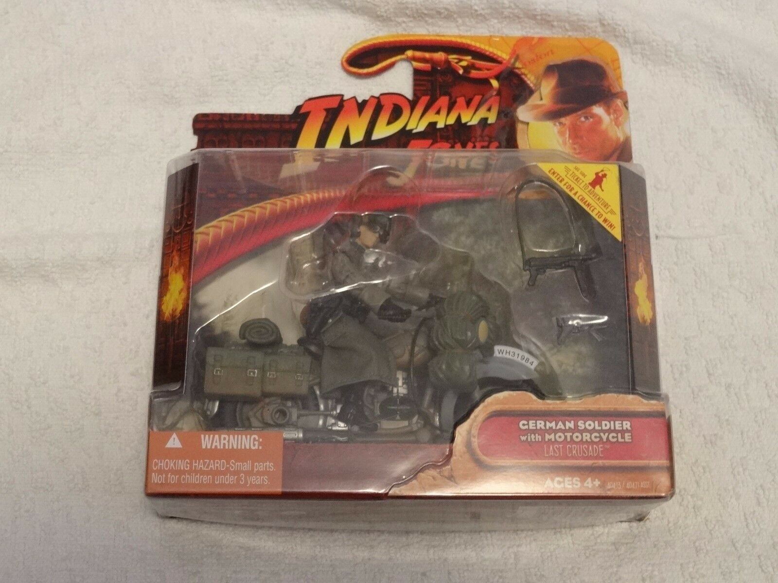 Indiana Jones Last Crusade German Soldier With Motorcycle Action Figure