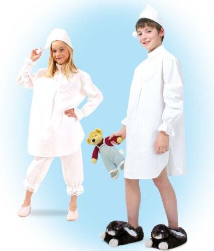 Nachthemd mit Mütze Kostüm Gr 104-164 Schlafwandler Karneval Fasching 1210030G13