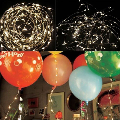 5M 50 LED String Fairy Lights LED Wire Light Xmas Wedding Party Decor 9 Colors