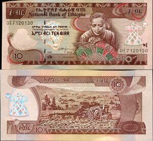 UNC Ethiopia 10 Birr 2009 2017 P-48