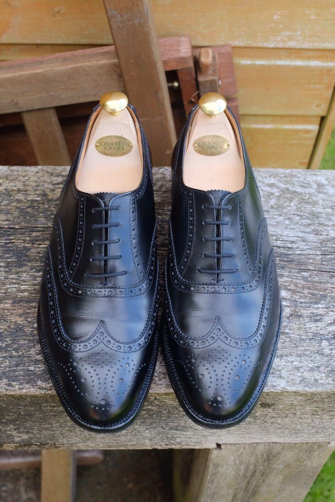 Hackett   Crockett & & & Jones Handgrade Black Brogues Size 8E - 317 Last 0f2d72