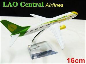 BOEING 737 LAO Cental AIRLINE THAILAND16CM METAL PLANE MODEL DIE-CAST TOY GIFT