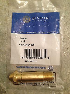 Brass Female ITEM 53-Western Nut 16-2 CGA 300 Commercial Acetylene RH