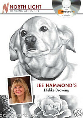 Lee Hammond's Lifelike Drawing DVD Learn How to Draw Dogs Roses & Vases