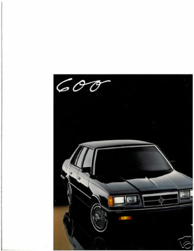 1987 Dodge 600 12-page Original Car Dealer Sales Brochure Catalog