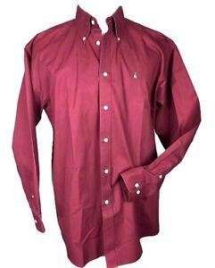 71a8e19b0ea7 Nordstrom Men's Button Down Dress Shirt Size XL Burgundy Casual | eBay