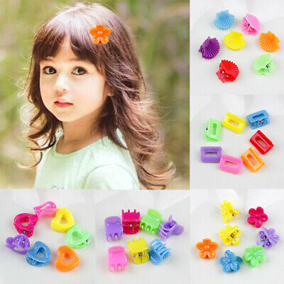 10PCS Hairpin Small Flowers Gripper Children Hair Clip Bangs Hair Accessories EB