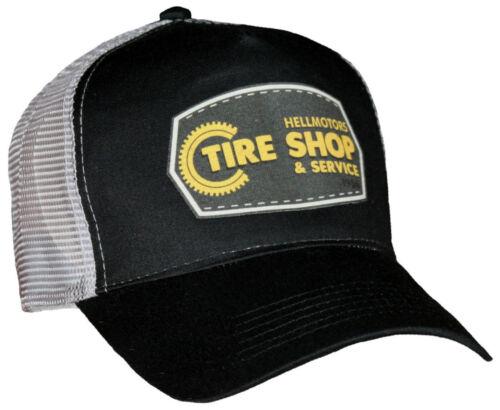 Tire Shop Trucker Cap Hellmotors V8 Old School Hot Rod Basecap Custom Kappe