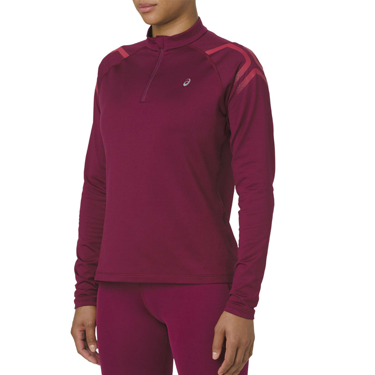 Asics ICON Winter Longsleeve 1 2 ZIP Lady   2012A012-600 (Cordovan Samba)