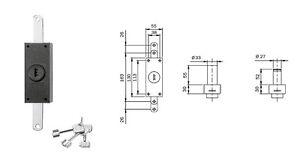 ISEO-910205-CERRADURA-APLICAR-CILINDRO-BOMBA-50MM-BRUJULA-GUIDACHIAVE-3CHIAVI