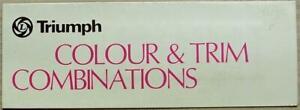 TRIUMPH CARS Colours Trim Paint Exterior Chart c1977 #3239/C Spitfire TR7 +