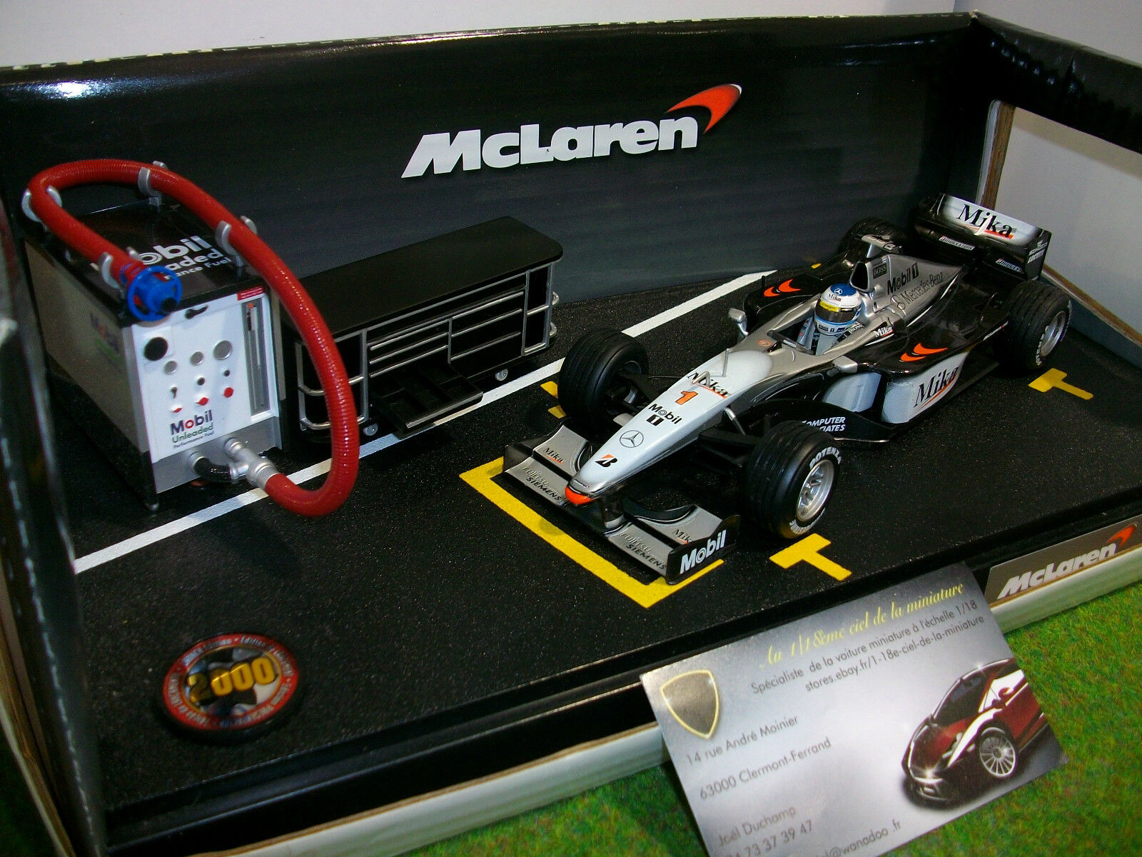 F1 McLAREN MP4-15 HAKKINEN 2000 1 24 HOT WHEELS MATTEL 26698 formule 1 PIT STOP
