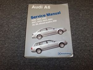 1998 1999 2000 2001 audi a6 shop service repair manual allroad.
