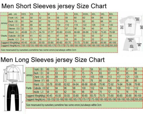 men Cycling Jersey Sets Bicycle Clothes Ropa Ciclismo MTB Bike Pants A62