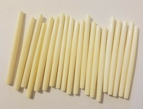 "20 pcs Genuine Natural Bone Horn Hair Pipe Hand Carved Jewelry Beads 3-1//2/"" 3.5/"""