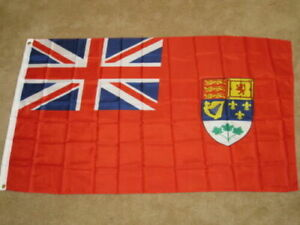 OLD-CANADA-RED-ENSIGN-PRE-1965-CANADIAN-NAVAL-FLAG-F954