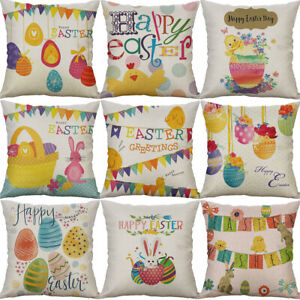 Easter-Egg-Cotton-Linen-Sofa-Waist-Home-Decor-pillow-case-Cushion-Cover