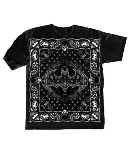 DC-BATMAN-BANDANNA-BLACK-Adult-T-Shirt-S-XXL