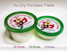Cold Porcelain Paste, Grade A+, 8 oz, NON TOXIC, Air Dry, Porcelana Fria