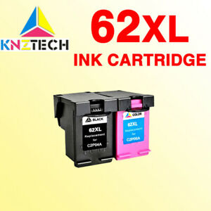2x-Ink-Cartridge-Color-Black-62XL-for-HP62-ENVY-5640-5540-7640-Officejet-5740