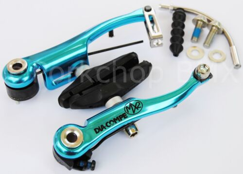 Dia-Compe MX2 MX-2 VC-733 V-brake bicycle brake for BMX or MTB BRIGHT DIP BLUE