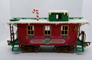 New-Bright-Logger-Bears-Express-G-Scale-Christmas-Caboose-Train-Replacement-1986