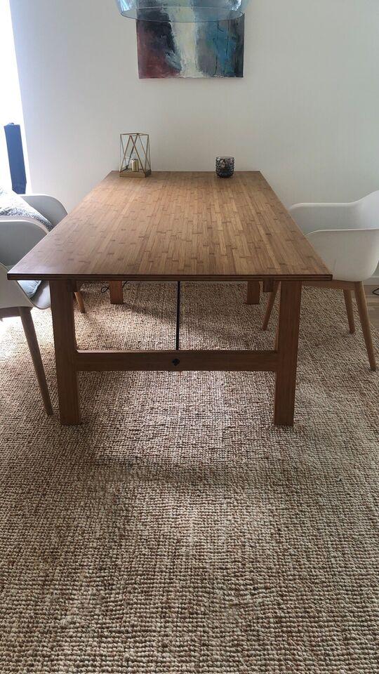 Spisebord, Massivt bambus, WeeDoWood