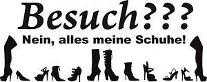 Schuhe2, Meine Schuhe Aufkleber Schuhe, Tür, Wandtattoo, 29x12 cm