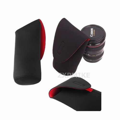 XL Negro Neopreno suave cámara SLR DSLR lente bolsa caso bolsa