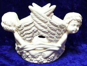 Ceramic-Antique-White-Painted-Small-Cherub-tealight-Candle-Holder