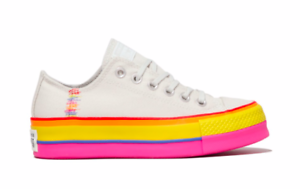 Details about Converse Women Chuck Taylor All Star Lift Low Top Shoes Vintage WhitePale Putty