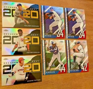 2020 Topps Chrome Update Decade's Next A Numbers Game Refractor Lot of 7