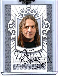 WWE-Bret-034-Hitman-034-Hart-A-BHA2-2009-Sportkings-Series-D-Silver-Autograph-Card