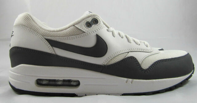 Nike Air Max 1 Essential Mens 537383 126 White Dark Grey Running Shoes Size 11
