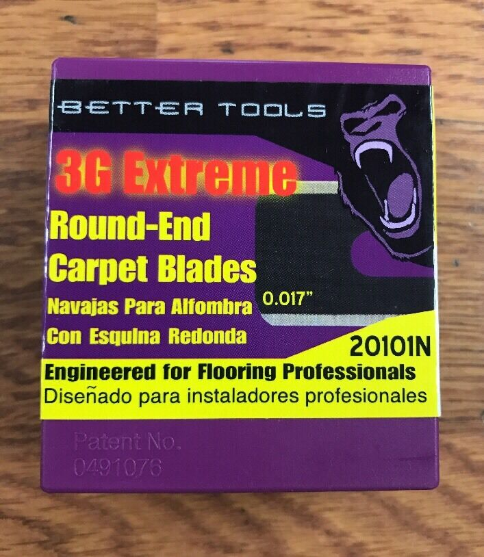 Better Tools Round Carpet Knife Blades, 100 Blades Per Box, 10 Boxes