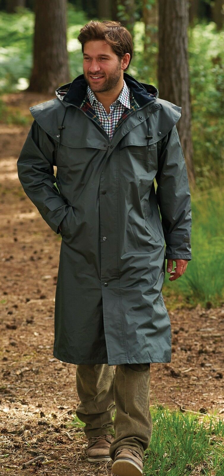 Mens Country Estate Highgrove Full Length Coat, Olive Colour In  Various Sizes  100% genuine counter guarantee