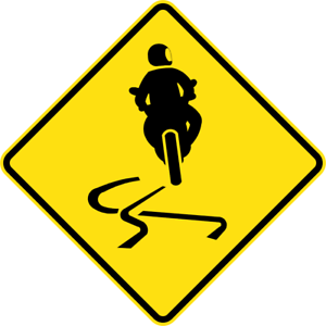 SLIPPERY-FOR-MOTORCYCLES-W5-V123-SELF-ADHESIVE-STICKER-DECAL-SIGN-HEAL