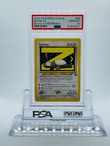 2002 Pokemon League Snorlax Black Star Promo Non-Holo - GEM MINT PSA 10