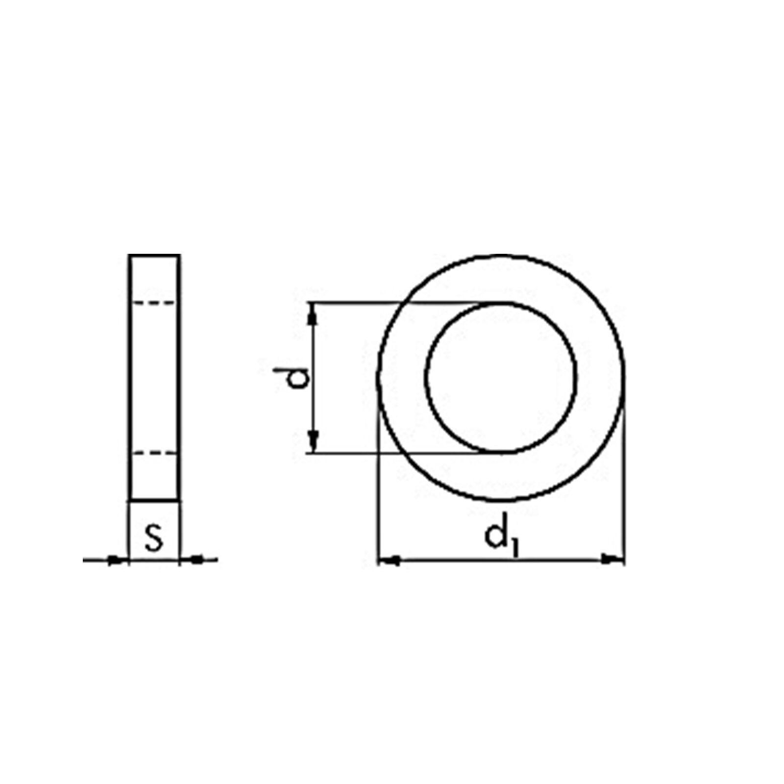 Ausgleichs-Scheibe  Passscheibe DIN DIN DIN 988, blank (Distanzscheibe)versch.Abmess.(2) | Bekannt für seine schöne Qualität  65a11a