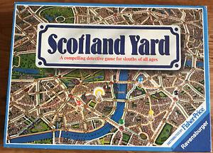 Vintage Ravensburger Scotland Yard Detective Board Game 1983 COMPLETE