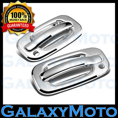 99-06 Chevy Silverado Chrome ABS Mirror+2 Door Handle+PSG Keyhole+Tailgate Cover