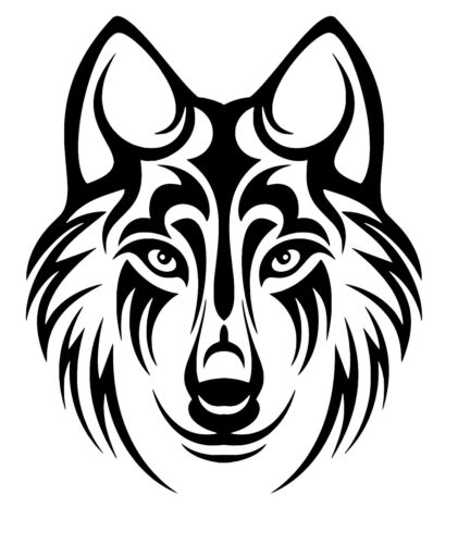 Wolf Animal Vinyl Decal 12 Colours 4 Sizes Wall Window Car Phone Laptop Sticker