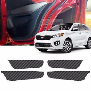carbon door decal sticker cover kick protector for kia 2015 2016 2017 sorento um. Black Bedroom Furniture Sets. Home Design Ideas