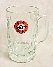 Tall A & W Root Beer Glass Vintage Float Mug Stein Arrow Logo Heavy 6""