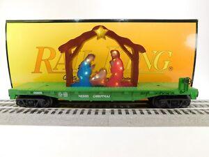 MTH-O-Rail-King-Green-Flatcar-W-Lighted-Nativity-Scene-30-76768-TOTE1