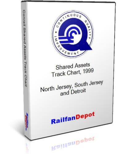 Conrail Shared Assets track chart 1999 RailfanDepot PDF on CD