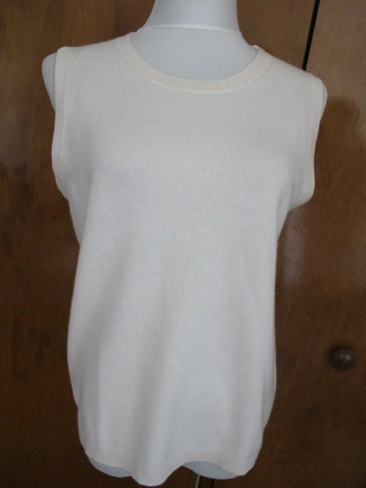 Bloomingdale's damen's Snow exceptionally soft 2Ply Cashmere Top Größe XLarge NWT
