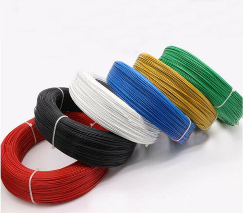Green 200°C HIGH TEMP PTFE Wire Cable Cord Tin Plated Copper UL1332 16~28AWG