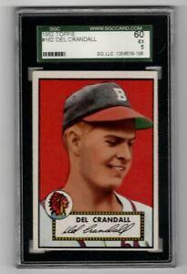 1952-Topps-Baseball-162-Del-Crandall-SGC-5-EX-SWEET-CARD