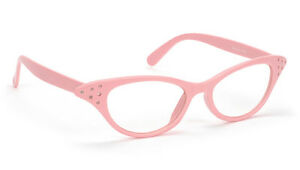 1988d664947 Image is loading PINK-clear-Cat-Eye-Glasses-only-6-95-